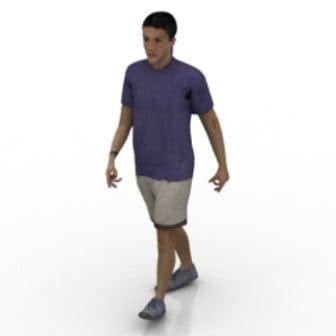 Walking Man 3d Max Model Free
