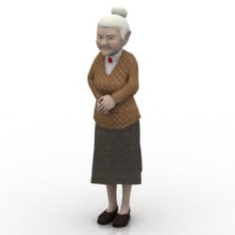 Grandmother Character 3d Max Model Free