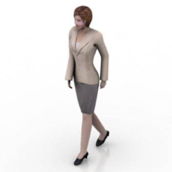 Walking Female Worker 3d Max Model Free