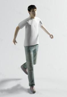 Young Men 3d Max Character Model Free