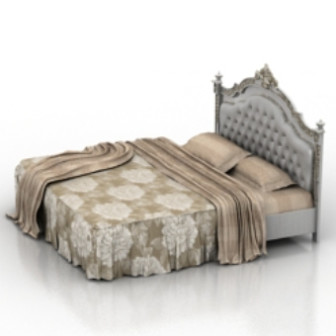 European classic bed 3d max model free 3ds max free for 3ds max bed model