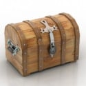 3d Max Model Free Wooden Chest