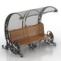 Cadeira de espera pública da decoração do vintage