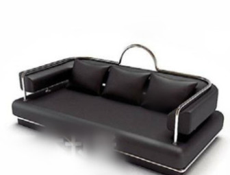 Black Leather Sofa 3d Max Model Free