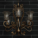 Retro Metal Frame Chandelier 3d Max Model