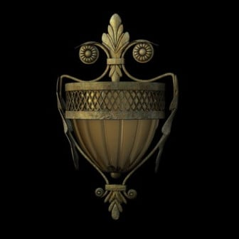 European Style Classical Wall Lamp 3d Max Model