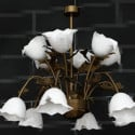 White Lily Potted Metal Pendant 3d Max Model