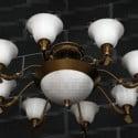 Ciondolo con struttura in metallo in stile petalo bianco