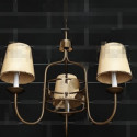 Yellow Lampshade Metal Frame Pendant 3d Max Model