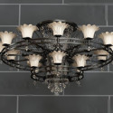 Double Loop  Retro Chandelier 3d Max Model