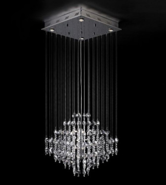 European Style Line Curtain Crystal Chandelier 3d Max Model (3ds,Max ...