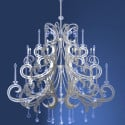 Modern European Crystal Relief Chandeliers 3d Max Model