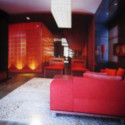 Colorful Living Room Interior Scene