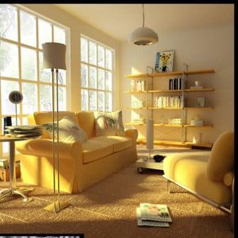 Romantic Living Room Interior 3d Model 3ds Max Open3dmodel 17339