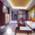 Chinese Gate Abstract Living Room 3d Max Model Free