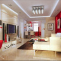 Modern Living Room Interior Scene
