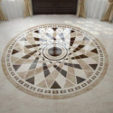 Circular Marble Floor Tiles Interior Scene