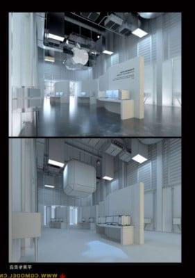 Minimalist Apple Store Building 3d Max Model 3ds Max