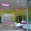 Escena interior de la tienda de mujeres