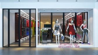 Women Clothing Store Interior Scene