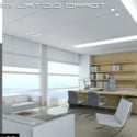 Overall Office Space Interior Scene