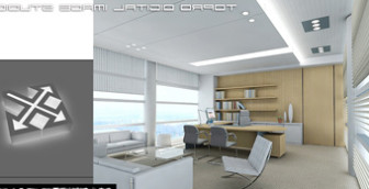 overall office space 3d max model free - Office Models Photos