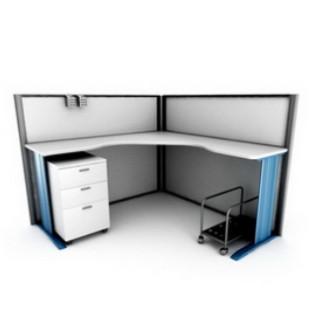 Office Corner Work Desk 3d Max Model Free 3ds Max Free