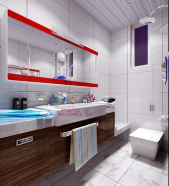 Modern bright bathroom design 3d max model free 3ds max for Bathroom design 3d model