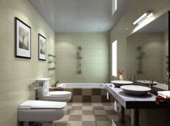 Minimalist bathroom design 3d max model free 3ds max for Bathroom design 3d model