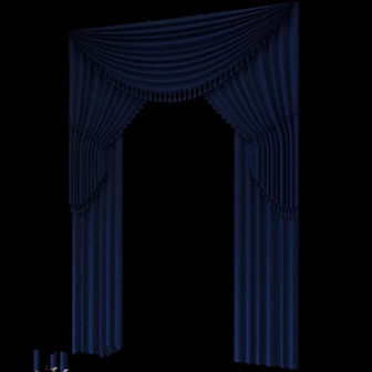 Blue Fabric Curtain