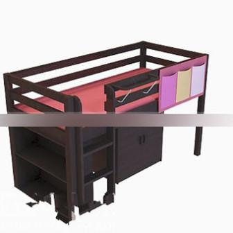 Wood Bunk Bed 3d Max Model Free