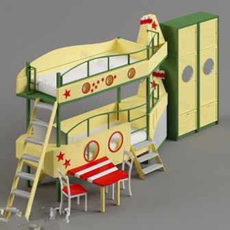 Children Bed 3d Max Model Free