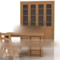 Library Wooden Furniture Set 3d Max Model Free