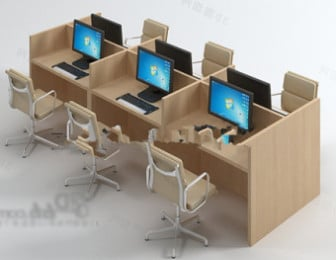 Office Desk With Computer 3d Max Model Free 3ds Max Free