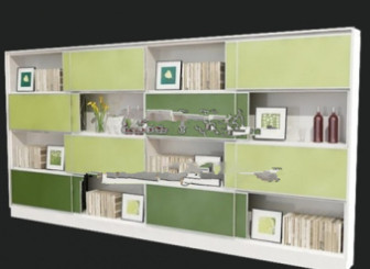 Modern Bookcase Cabinet 3d Max Model Free