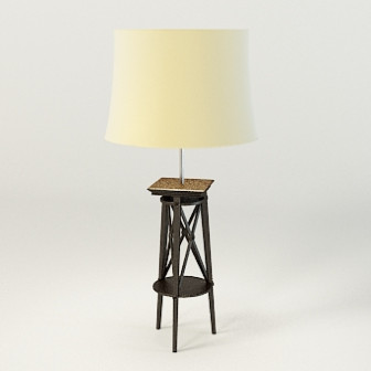 3d Max Model Free Of Modern Wooden Base Floor Lamp