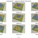 Flower Mosaic Tiles 3d Max Model