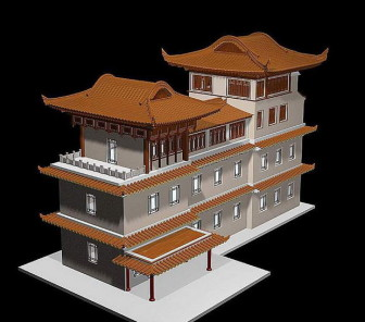 China ancient building 3d max model 3ds max free for Build house online 3d free