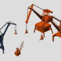 Port Cranes 3d Max Model