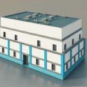 Five Storey Building 3d Max Model