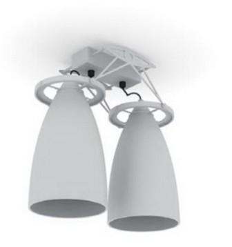 White Chandelier Lighting 3d Max Model Free