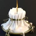 Milchig Leuchter Lampe