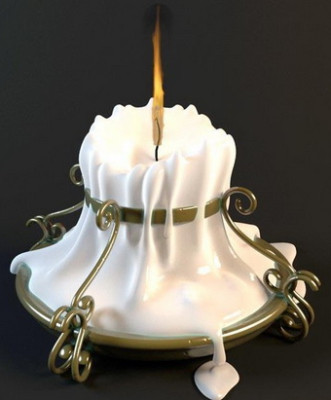 Milky Candlesticks Lamp 3d Max Model