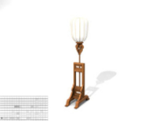 Charm Table Lamp 3d Max Model