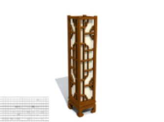 Classic Wooden Table Lamp 3d Max Model