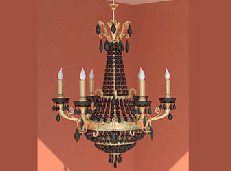 Retro Candle Chandelier 3d Max Model Free