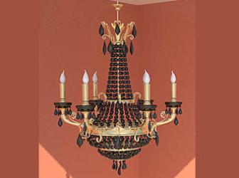 Retro kynttilän kattokruunu