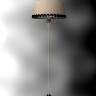 Retro Single Lampshade Floor Lamp 3d Max Model