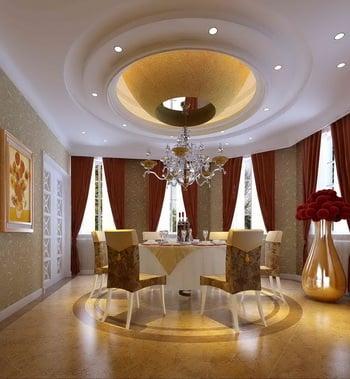 Palatial Hotel Restaurant 3d Max Model Free
