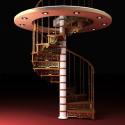 3d Max Model Spiral Staircase Design